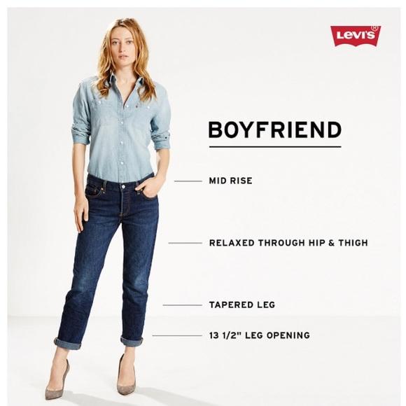 61f1e545 Levi's Jeans | Womens Levis Cuffed Boyfriend 28 | Poshmark