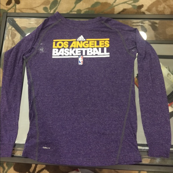 1524361a1cb adidas Shirts & Tops | Official Lakers Warmup Long Sleeve | Poshmark