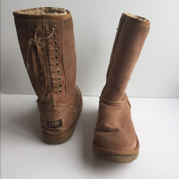 ugg boots with laces up the back off 52