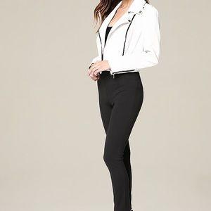 bebe Jackets & Coats - Bebe White Faux Leather Moto Jacket