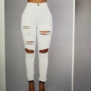 Blanched jeans!