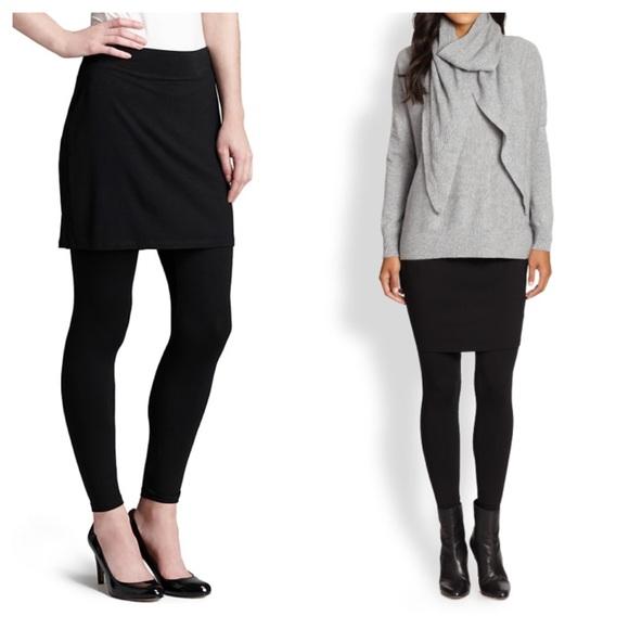 36a16657fa89d6 Eileen Fisher Pants   Attached Black Skirt Leggings   Poshmark
