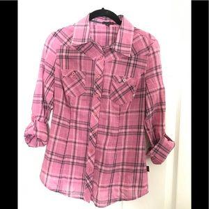 Plaid G by Guess shirt