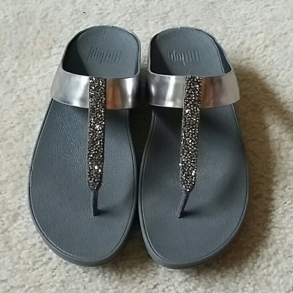 0b848dc8d50 Fitflop Shoes - Cute Pewter hematite and crystal FitFlops