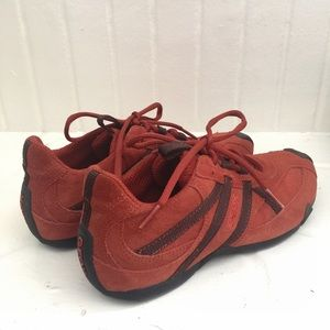 Geox Respira Orange Coffee Suede Sneakers Size 40