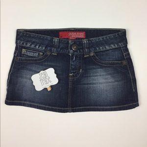 Guess Jeans Mini Jean Skirt