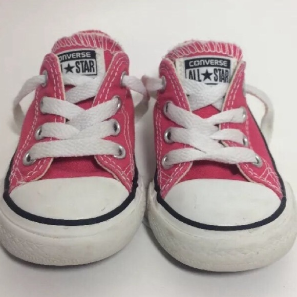9af5294bdf4d Converse Other - Pink Converse Baby Toddler Shoes Size 5