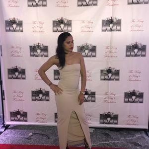 Lulu s Dresses - Own the night beige maxi 88b3d0654