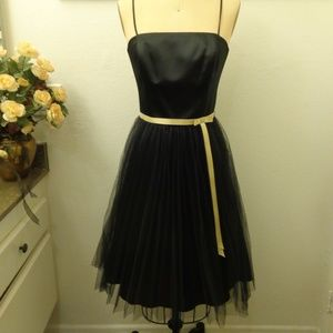 A.B.S Evening by Allen Schwartz Tulle Black Dress