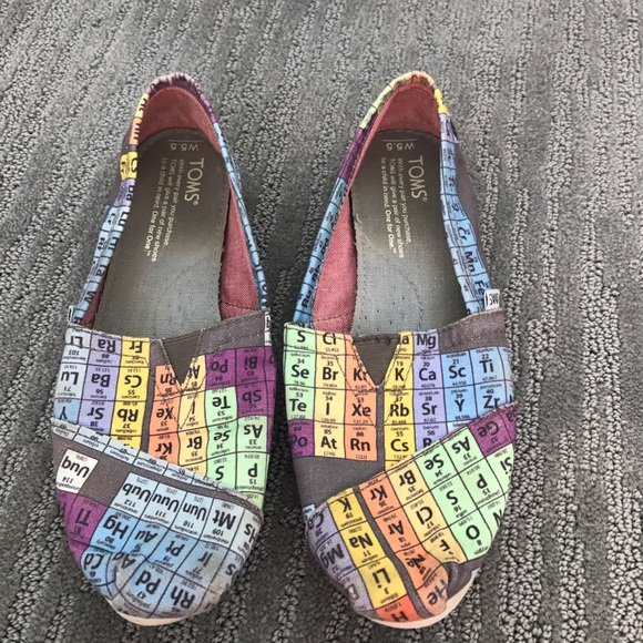 Toms Shoes Periodic Table Poshmark