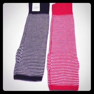 Stripe Fingerless gloves Arm-warmers Crown & Ivy