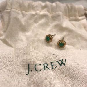 J. Crew Green Earrings