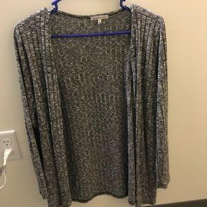 charlotte russe light grey cardigan