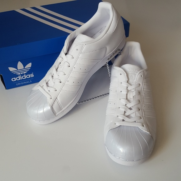 new concept 48483 46d4d NWT ADIDAS superstar women glossy white shelltoe