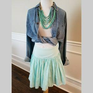 Dresses & Skirts - Gap Pale Aqua Cotton Flared Skirt Size 0