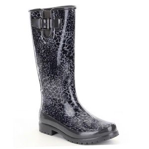 Sperry Shoes - Sperry Pelican III Rain Boots Womens Black Cheetah