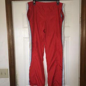 Pants - Vintage women's red track pants size large