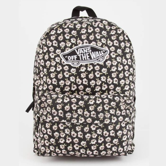Vans fall floral realm backpack NWT