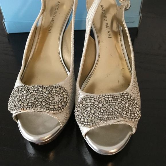 f59ebdf3189 ANTONIO MELANI Shoes - Antonio Melani Silver Heels