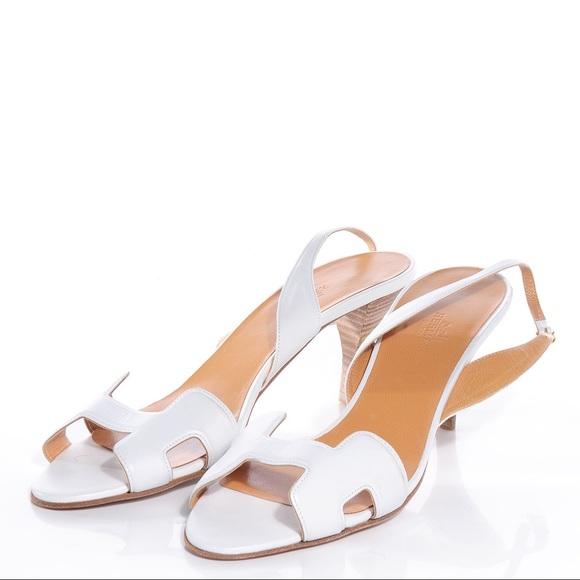 f7557480430 Hermès Night 70 White Sandals