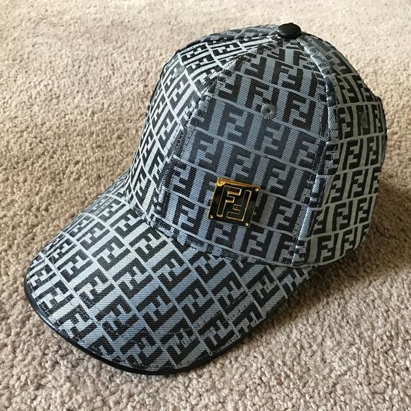 Fendi Hat Mens Cap Baseball Cap monogram FF Logo 57810302b19