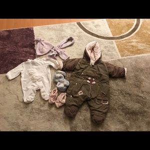 Other - NB newborn 1mns clothes baby girl winter lot