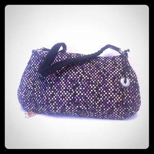 Sak Purple and Black Woven Purse Handbag