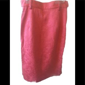 Classic pencil skirt in a fun coral color