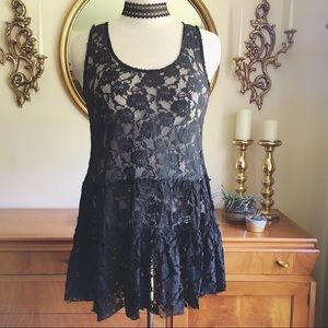 A'reve Sheer Lace Fit and Flare Dress