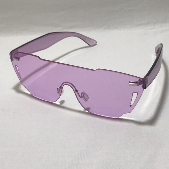 cb14a13fee7 Purple Unisex Shield Sunglasses