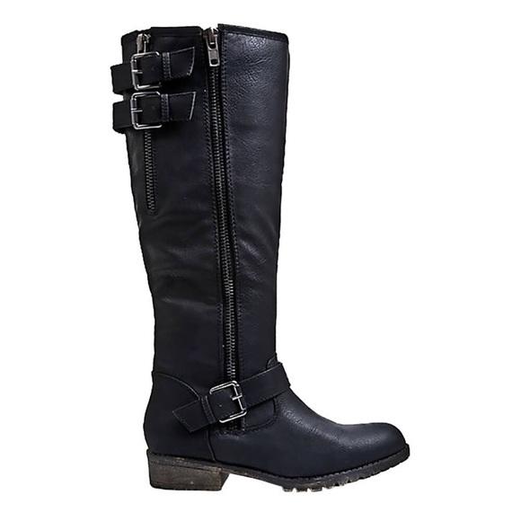 5876f202d90 SALE Madden Girl Women's Cheered Black Tall Boot NWT