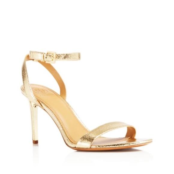 8fb757b3cdc9d9 BNIB Tory Burch Elana gold sandal size 8