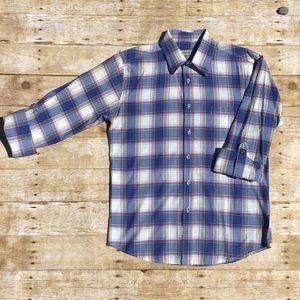 Men's plaid L/S collared shirt