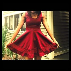 Dresses & Skirts - Deep red cocktail dress (no tag)