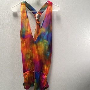 Rainbow Swimsuit Coverup