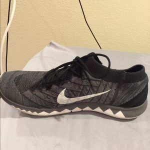 Nike Black and White FlyKnit shoe