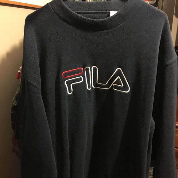 32206682488d1 Fila Sweaters | Vintage Fuzzy Crewneck | Poshmark