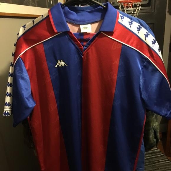 new concept 28396 df3bf VINTAGE KAPPA SPORT FC BARCELONA JERSEY