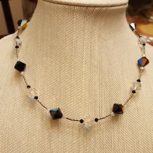 Jewelry - Vintage 925 Crystal Necklace