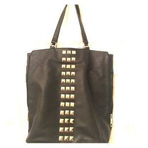 Handbags - Black purse with gold stud accents