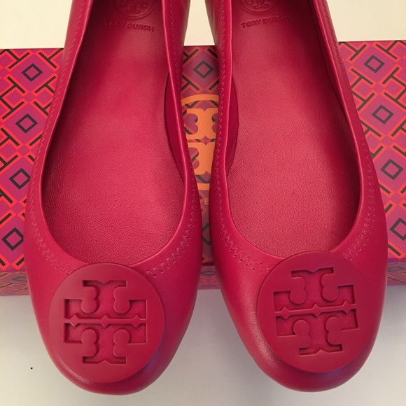 cbf8045310de1 Tory Burch Pink Peony Minnie Travel Ballet