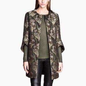 H&M Floral Jacquard Coat
