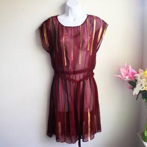 Dresses & Skirts - Gianni Bini Red Sheer Dress