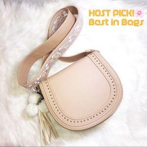 Handbags - COCHELLA BEIGE MINI CROSSBODY BAG