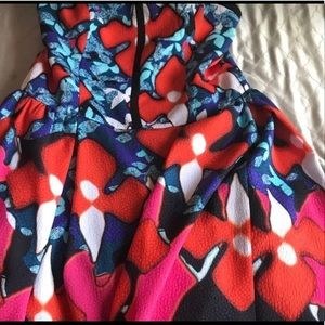 Strapless colorful dress