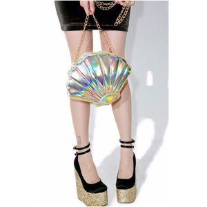 Iridescent Mermaid Seashell Purse