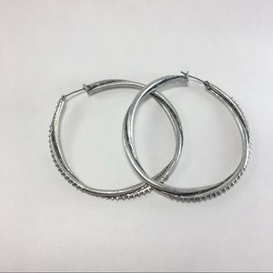 Jewelry - NWOT twisted hoops