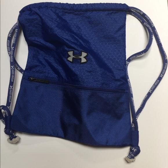 ffe0ddb81c Under Armour blue drawstring backpack. M 59833c7a7fab3a7ff7005451