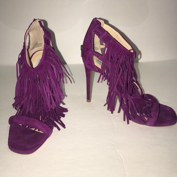 Steve Madden fringe magenta heels