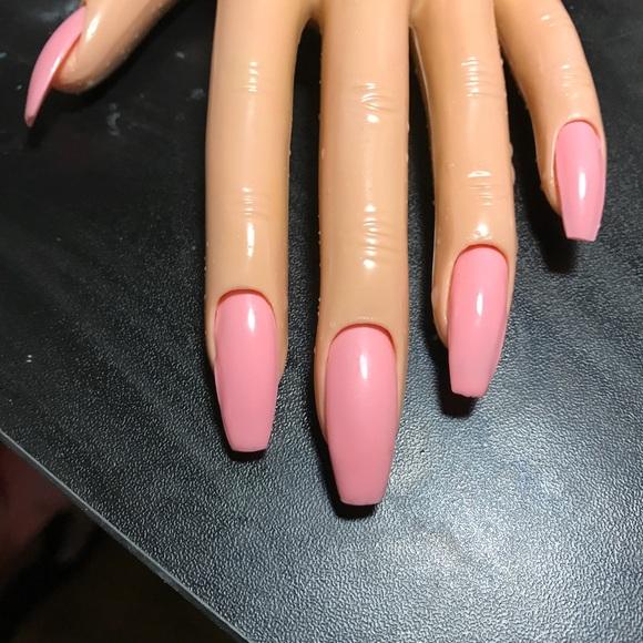 Designer Nails By Katie Accessories   Baby Pink Uv Gel Coffin Nails ...